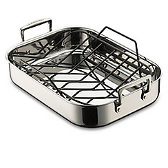 Le Creuset - Le Creuset 3-Ply Stainless Steel 35cm Roaster & free Rack