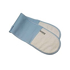Le Creuset - Coastal blue double oven glove