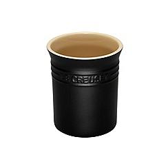 Le Creuset - Satin black stoneware small utensil jar