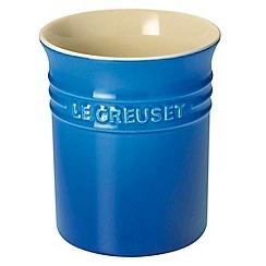 Le Creuset - Marseille blue stoneware small utensil jar