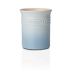 Le Creuset - Coastal blue stoneware small utensil jar