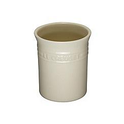Le Creuset - Almond stoneware small utensil jar