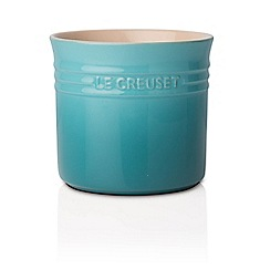 Le Creuset - Teal stoneware large utensil jar