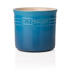 Le Creuset - Marseille blue stoneware large utensil jar