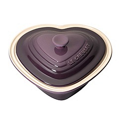 Le Creuset - Cassis stoneware deep heart dish and lid