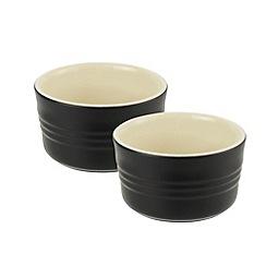 Le Creuset - Satin black stoneware set of 2 ramekins