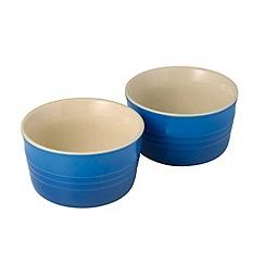Le Creuset - Marseille blue stoneware set of 2 ramekins