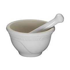 Le Creuset - Almond stoneware pestle and mortar