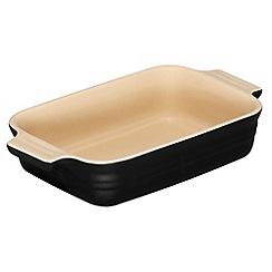 Le Creuset - Satin black stoneware 18cm rectangular dish
