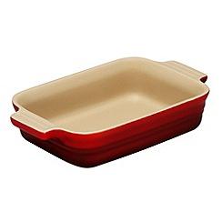 Le Creuset - Cerise stoneware 18cm rectangular dish