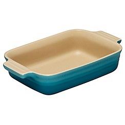 Le Creuset - Teal stoneware 18cm rectangular dish