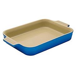 Le Creuset - Marseille blue stoneware 18cm rectangular dish