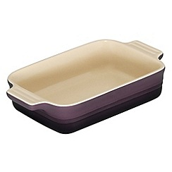Le Creuset - Cassis stoneware 18cm rectangular dish