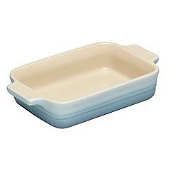 Le Creuset - Coastal blue stoneware 19cm rectangular dish