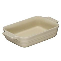 Le Creuset - Almond stoneware 18cm rectangular dish