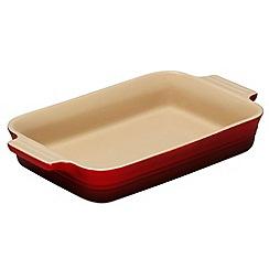 Le Creuset - Cerise stoneware 26cm rectangular dish