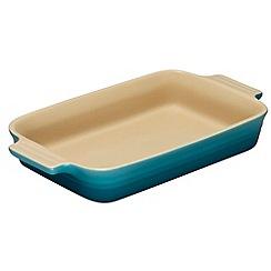 Le Creuset - Teal stoneware 26cm rectangular dish
