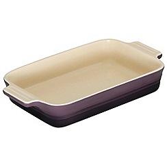 Le Creuset - Cassis stoneware 26cm rectangular dish