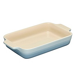 Le Creuset - Coastal blue stoneware 26cm rectangular dish