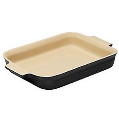 Le Creuset - Satin black stoneware 32cm rectangular dish