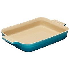 Le Creuset - Teal stoneware 32cm rectangular dish