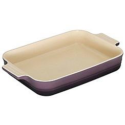 Le Creuset - Cassis stoneware 32cm rectangular dish