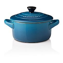 Le Creuset - Marseille blue stoneware petite round casserole