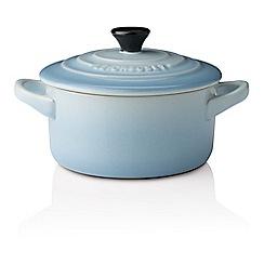 Le Creuset - Coastal blue stoneware petite round casserole