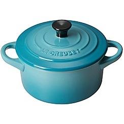 Le Creuset - Teal stoneware 14cm round casserole