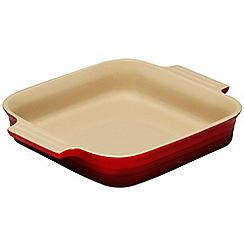 Le Creuset - Cerise stoneware 23cm square dish