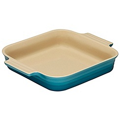 Le Creuset - Teal stoneware 23cm square dish