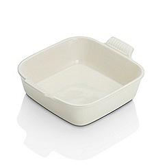 Le Creuset - Almond stoneware 23cm square dish
