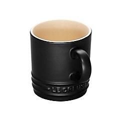 Le Creuset - Satin black stoneware espresso mug