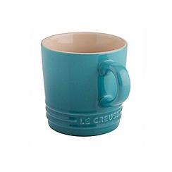 Le Creuset - Teal stoneware 200ml cappuccino mug