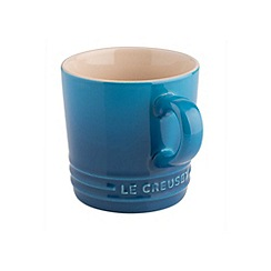 Le Creuset - Marseille blue stoneware 200ml cappuccino mug