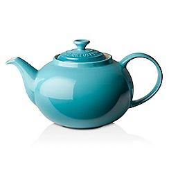 Le Creuset - Teal stoneware classic teapot