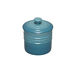 Le Creuset - Teal stoneware 0.8L storage jar