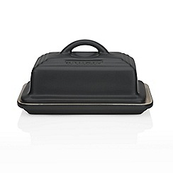 Le Creuset - Satin black butter dish
