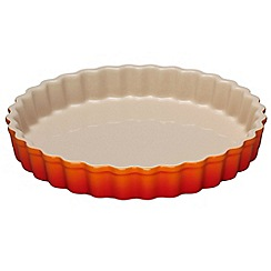 Le Creuset - Volcanic stoneware 24cm fluted flan