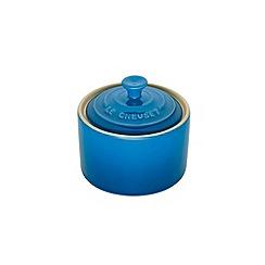 Le Creuset - Marseille blue stoneware sugar bowl