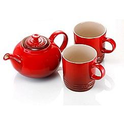 Le Creuset - Cerise stoneware tea for 2 set