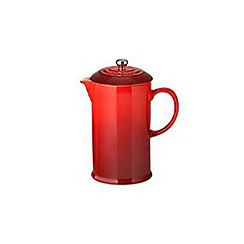 Le Creuset - Cerise stoneware coffee pot and press