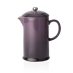 Le Creuset - Cassis stoneware coffee pot and press