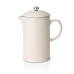 Le Creuset - Almond stoneware coffee pot and press