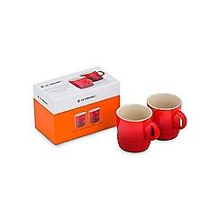 Le Creuset - Set of 2 Espresso Mugs Cerise