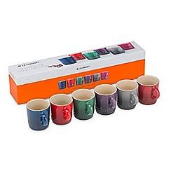 Le Creuset - Set 6 Moorland Espresso Mugs
