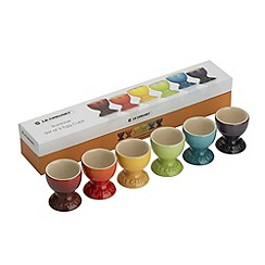 Le Creuset - Rainbow stoneware set of 6 egg cups