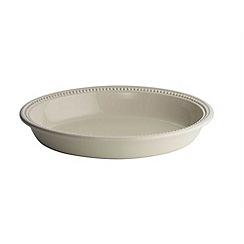 Le Creuset - Almond stoneware 28cm oval pie dish