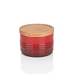 Le Creuset - Cerise stoneware small storage jar with wooden lid