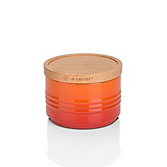 Le Creuset - Volcanic stoneware small storage jar with wooden lid